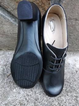 Дамски Обувки на Платформа от Естествена Кожа Модел 1-2