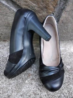 Дамски Обувки на Платформа от Естествена Кожа Модел 2-2