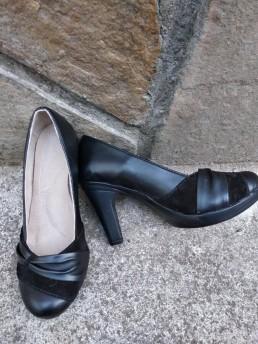 Дамски Обувки на Платформа от Естествена Кожа Модел 2-3