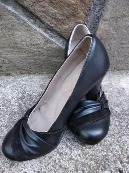 Дамски Обувки на Платформа от Естествена Кожа Модел 2