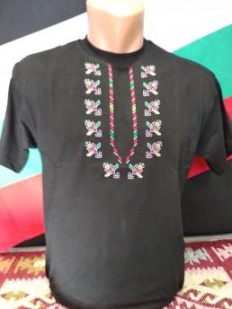 Етно Мъжка Тениска Черна