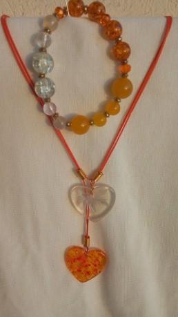 Комплект Дамско Бижу със Сърце