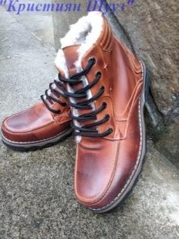 Зимни Мъжки Обувки от Естествена Кожа Модел 8