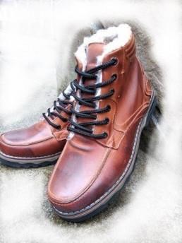 Зимни Мъжки Обувки от Естествена Кожа Модел 8-3