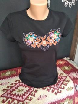 Черна Етно Дамска Тениска