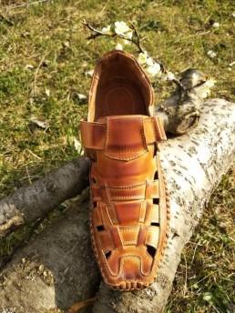 Летни Мъжки Обувки от Естествена Кожа Модел 15-2