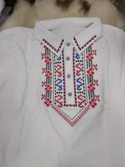 Мъжка Етно Блуза с Шевица бяла